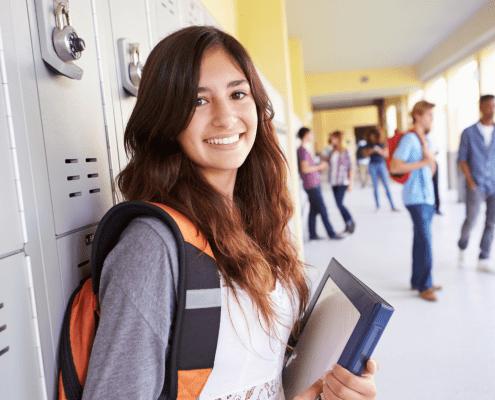 High School Lockers Girl